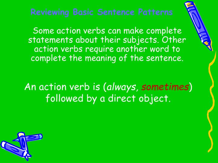 Reviewing basic sentence patterns3