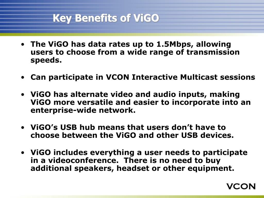 Key Benefits of ViGO