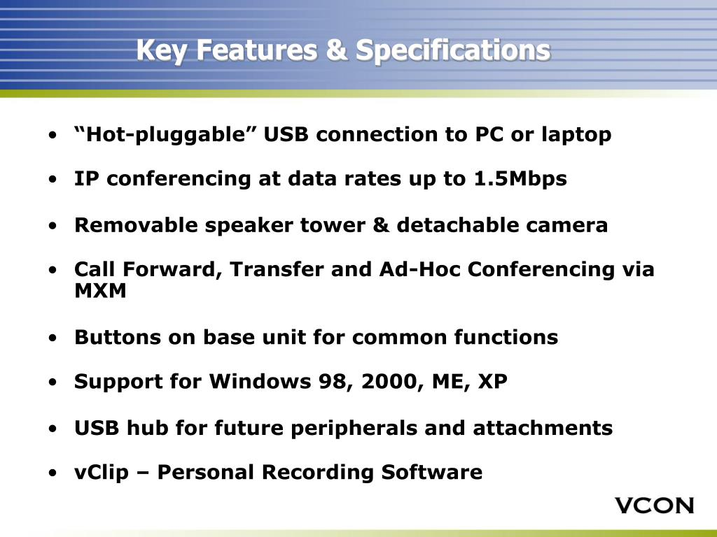 Key Features & Specifications