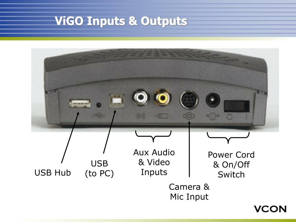 ViGO Inputs & Outputs