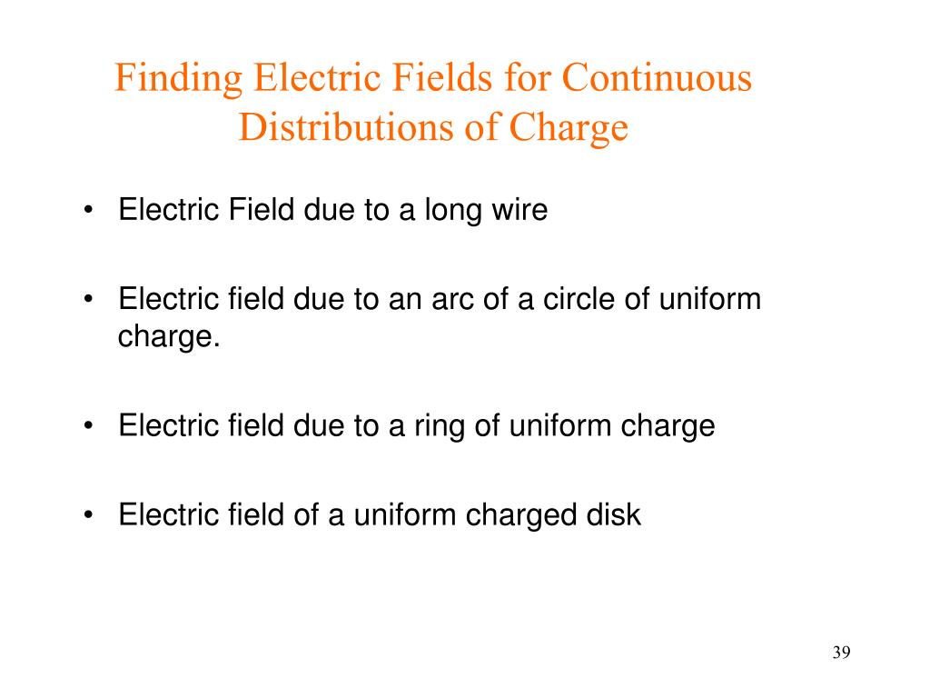 Finding Electric Fields for Continuous Distributions of Charge