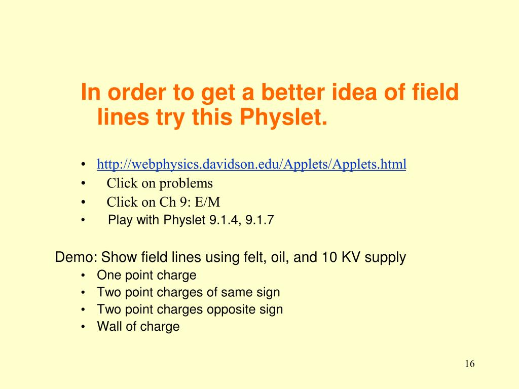 In order to get a better idea of field lines try this Physlet.