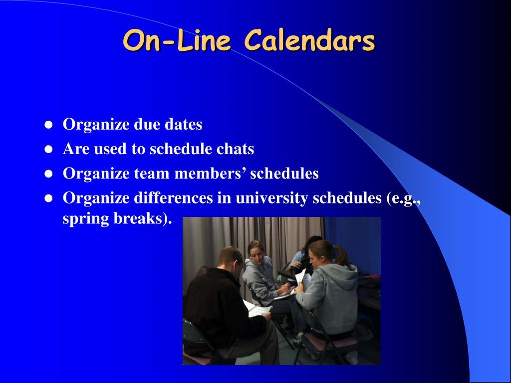 On-Line Calendars