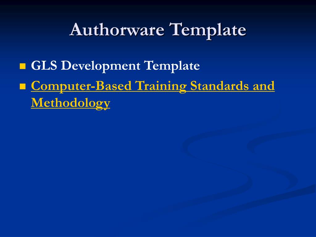 Authorware Template