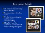instructor mode