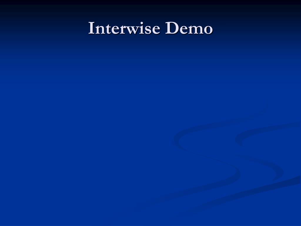 Interwise Demo