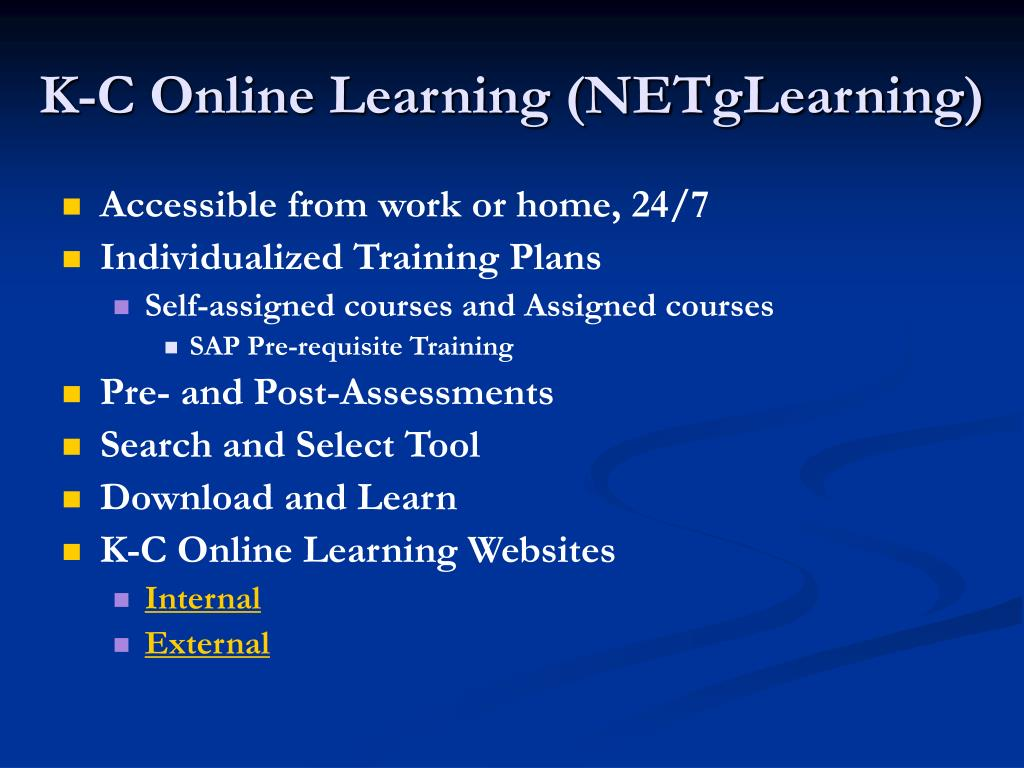 K-C Online Learning (NETgLearning)