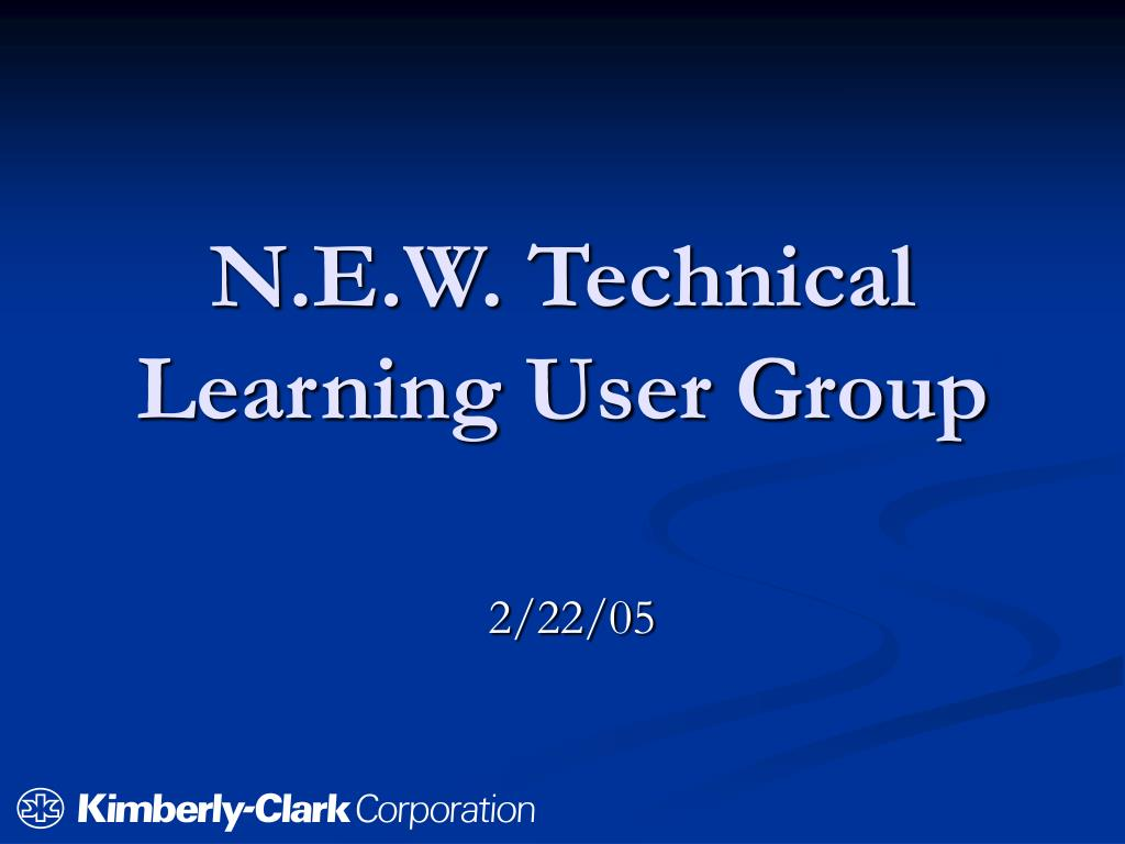 N.E.W. Technical Learning User Group