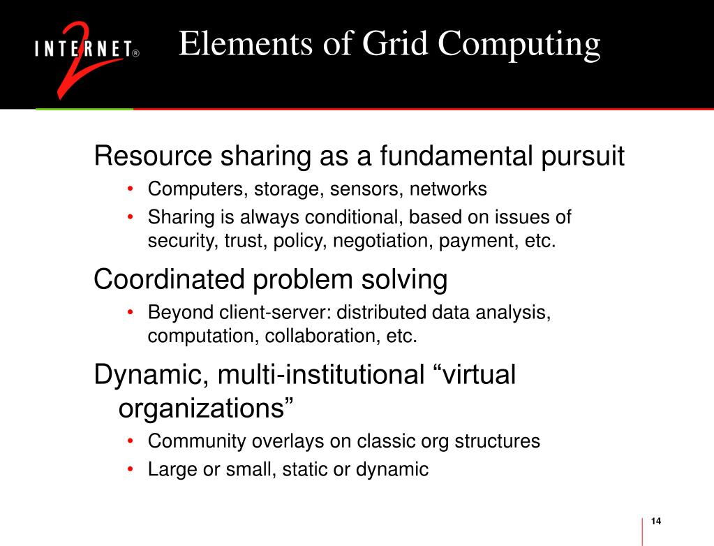 Elements of Grid Computing