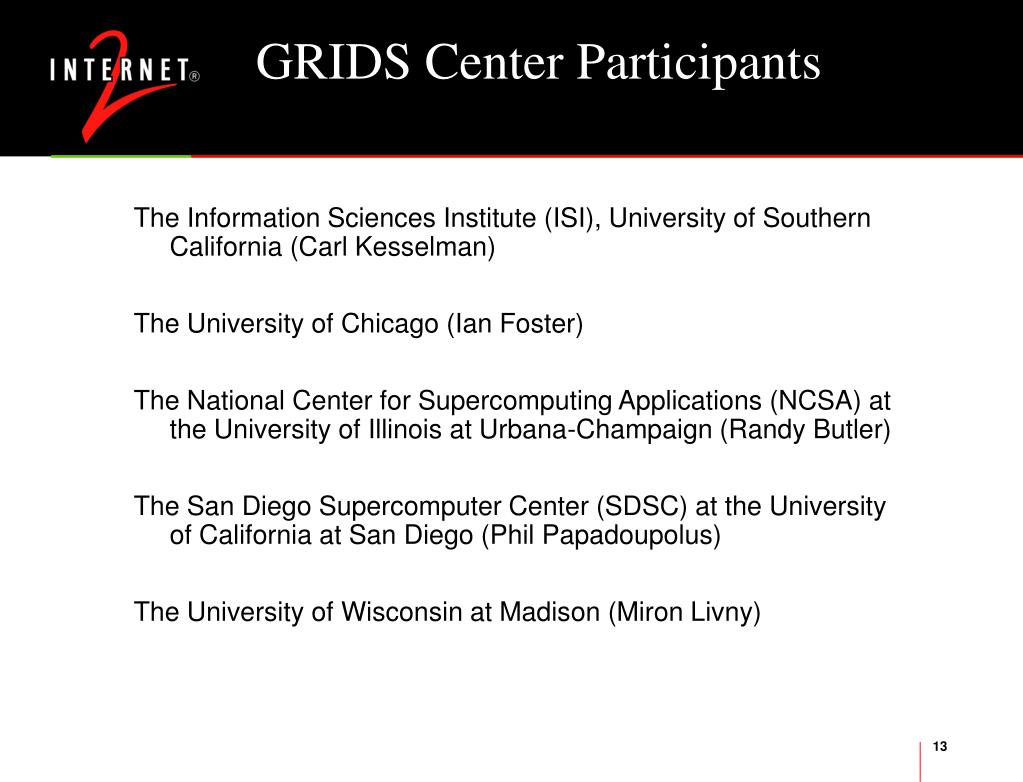 GRIDS Center Participants