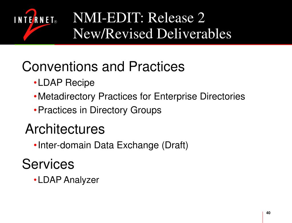 NMI-EDIT: Release 2