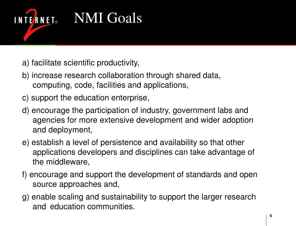 NMI Goals