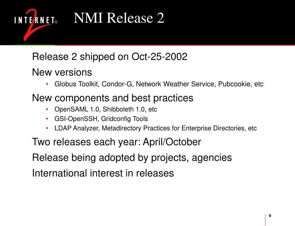 NMI Release 2