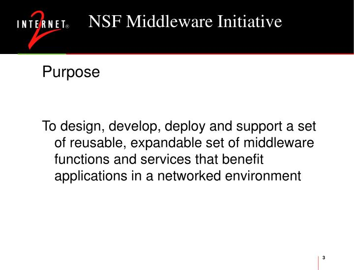 Nsf middleware initiative