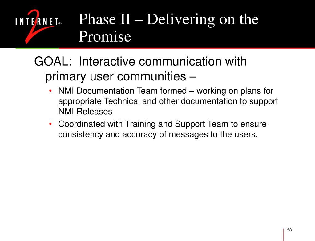 Phase II – Delivering on the Promise