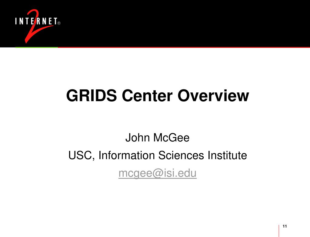 GRIDS Center Overview