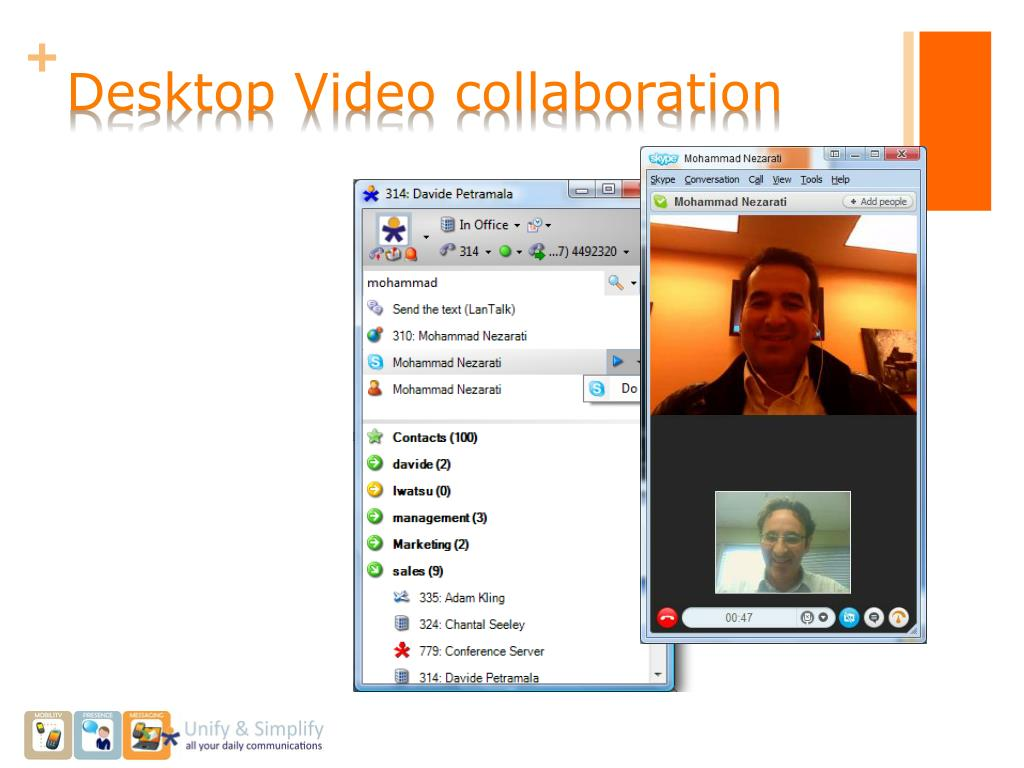 Desktop Video collaboration