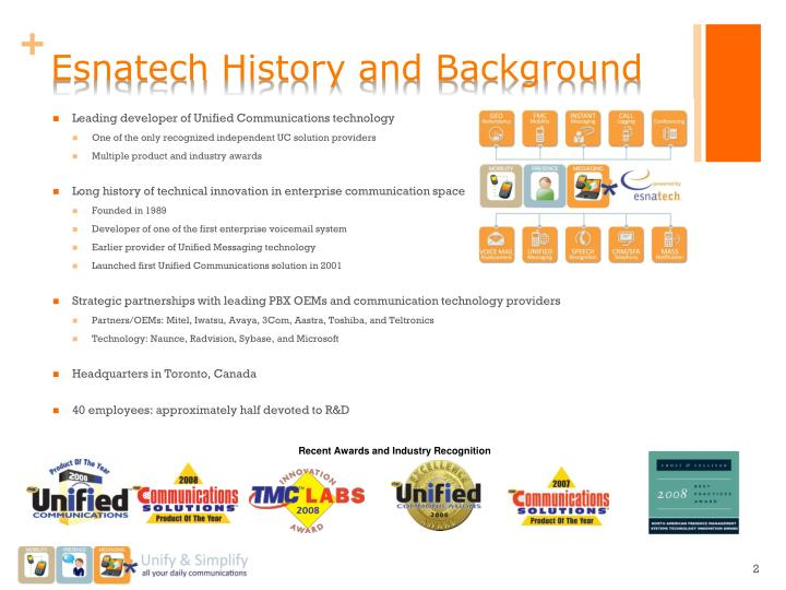 Esnatech history and background