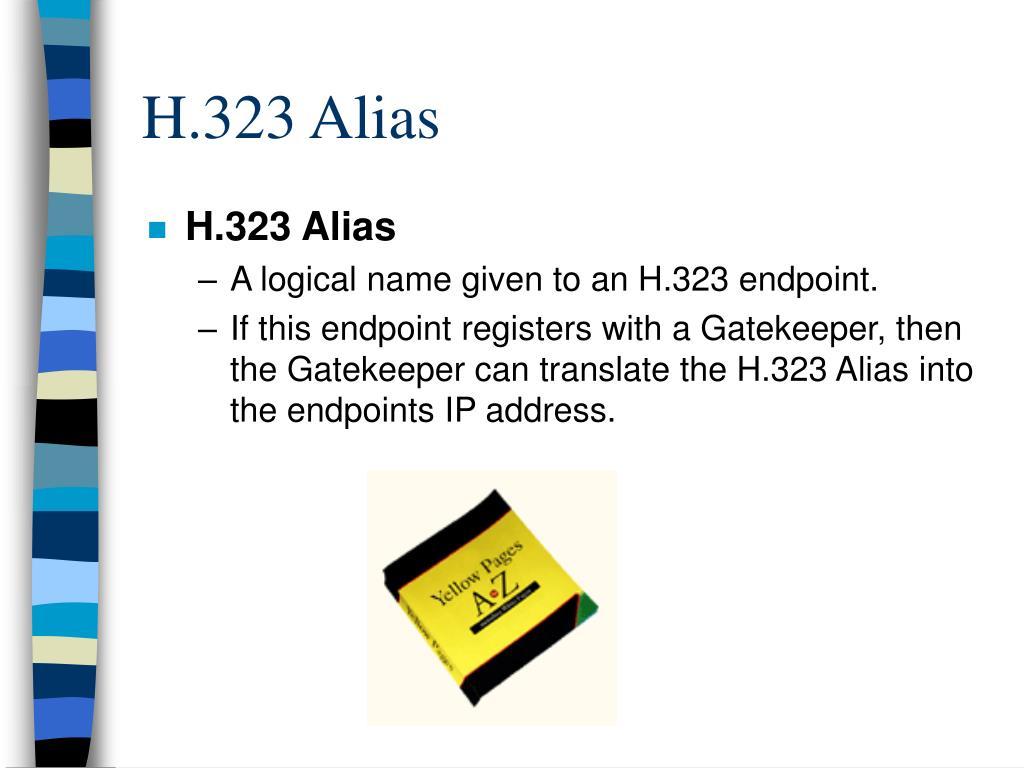 H.323 Alias