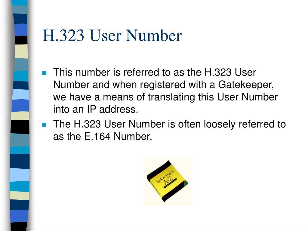 H.323 User Number
