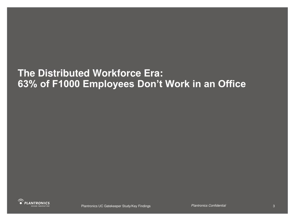 The Distributed Workforce Era: