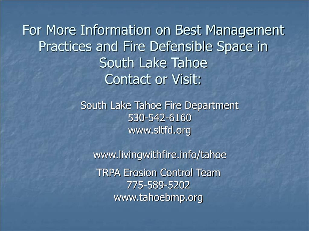 South Lake Tahoe Fire Department