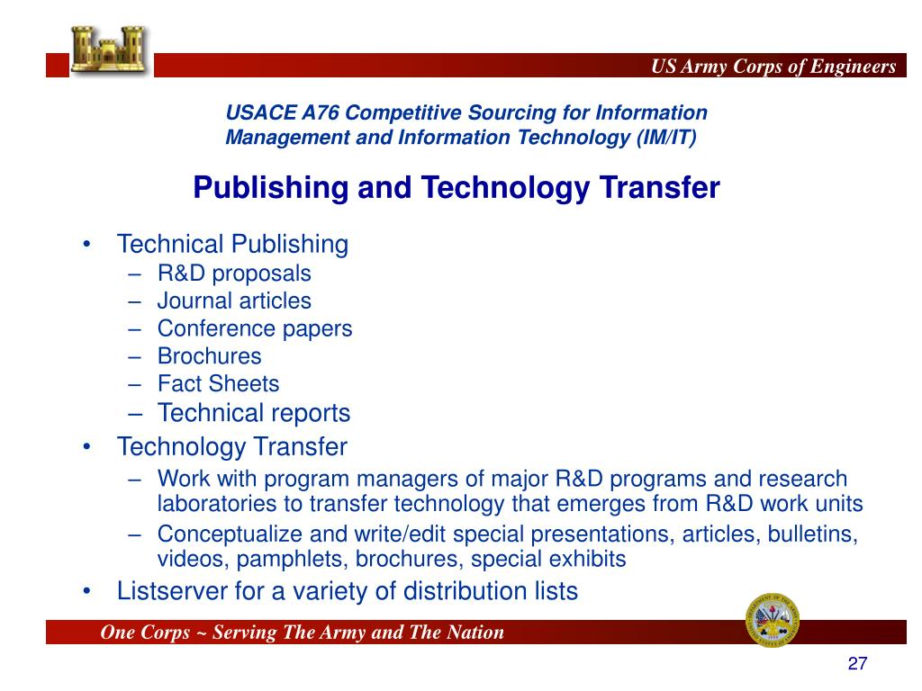 Publishing and Technology Transfer