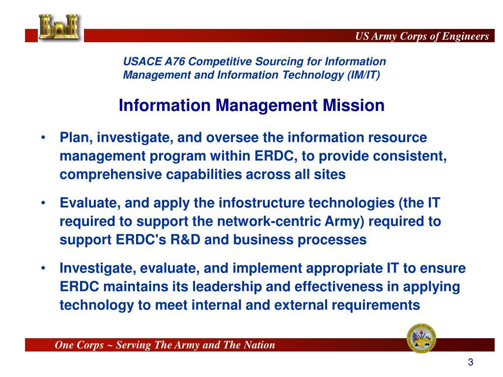 Information Management Mission