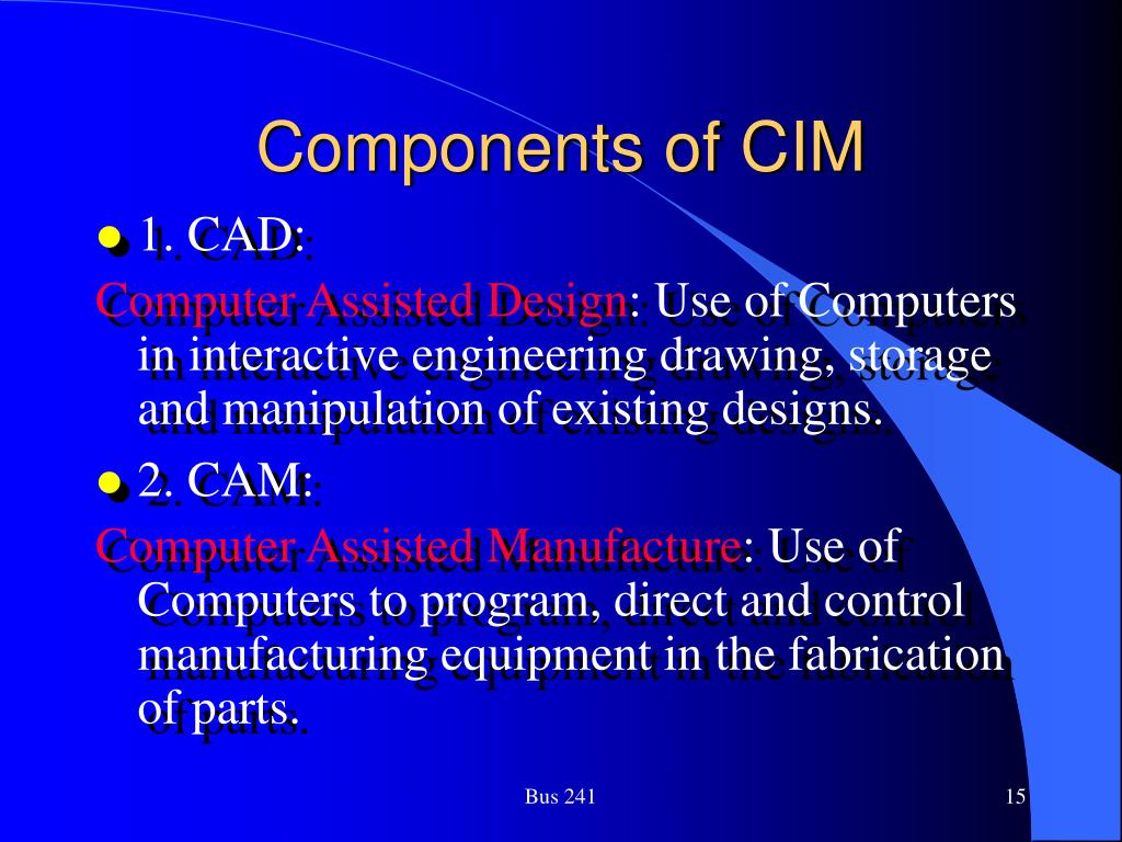 Components of CIM
