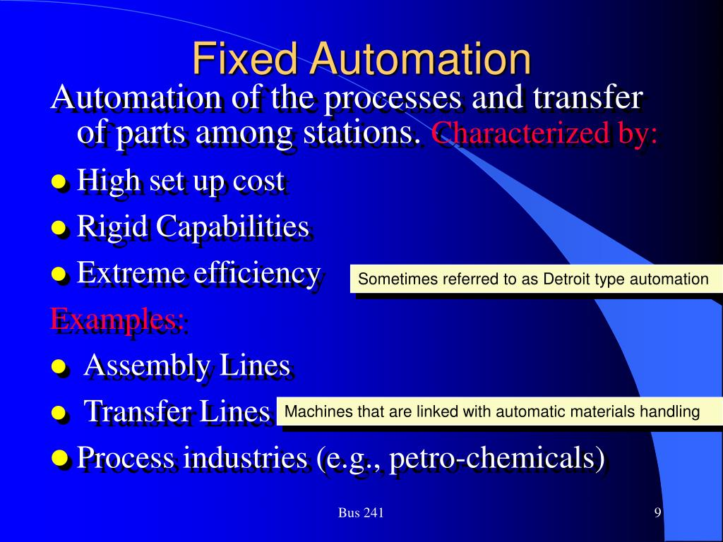 Fixed Automation