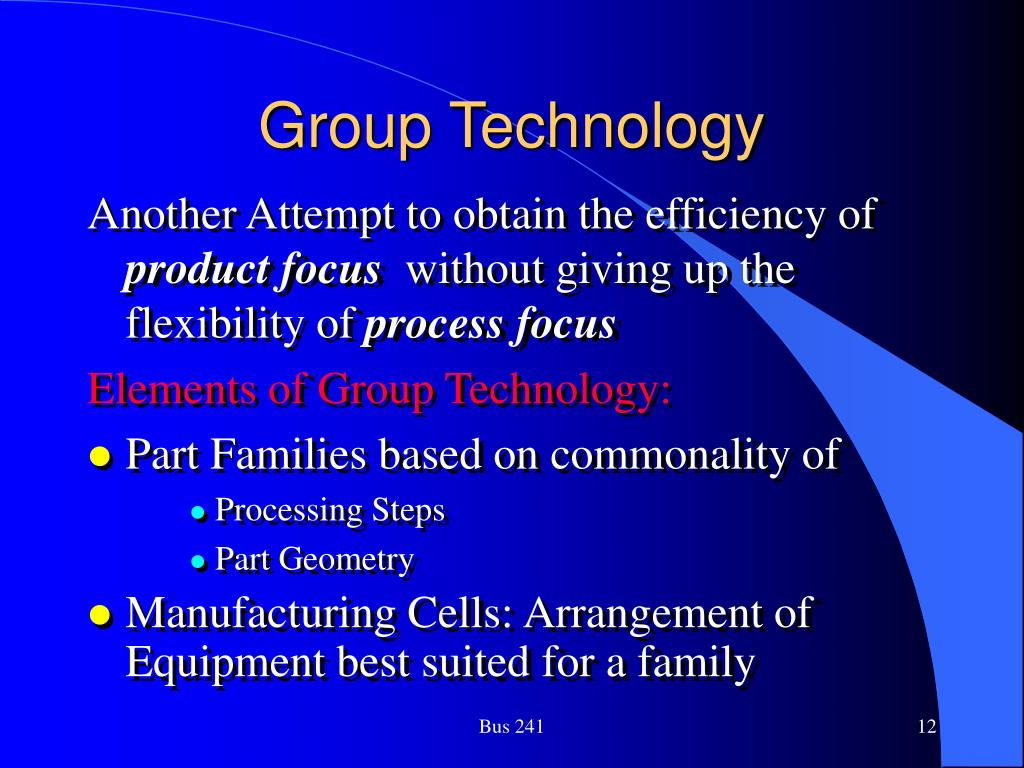 Group Technology