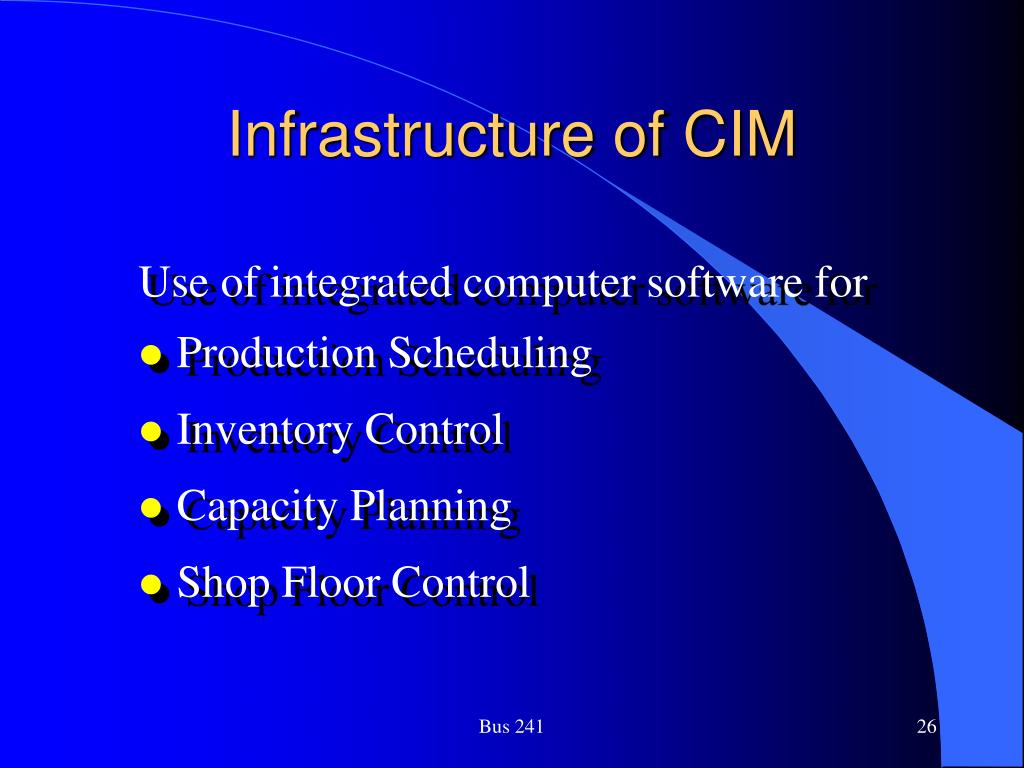 Infrastructure of CIM