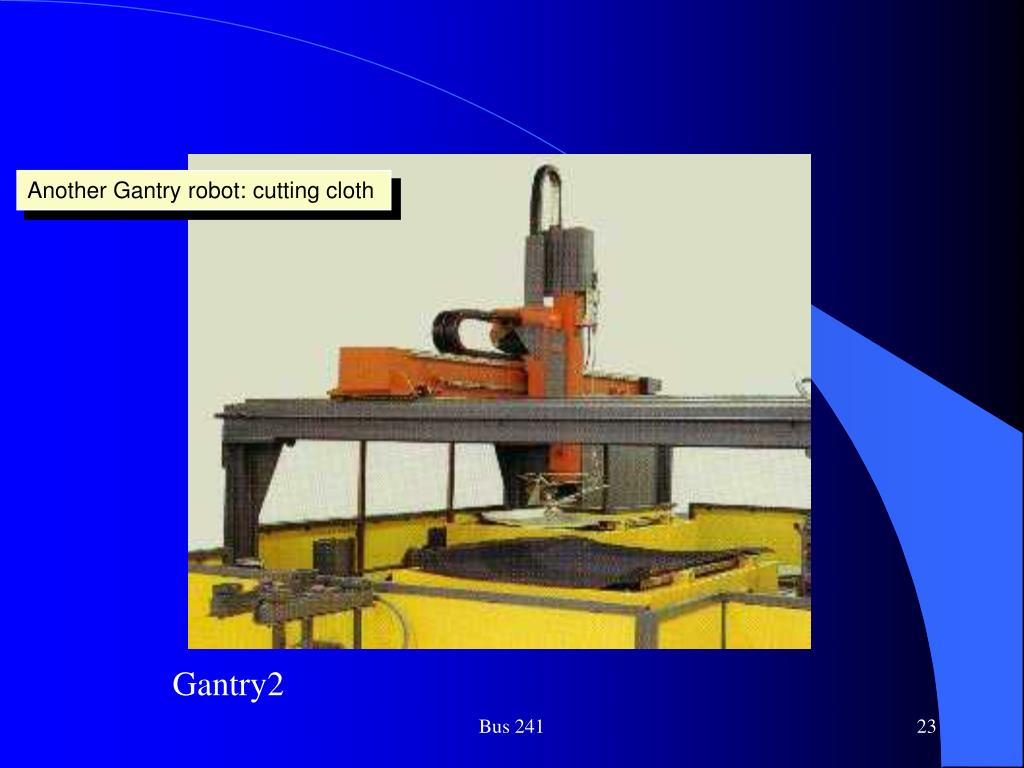 Another Gantry robot: cutting cloth