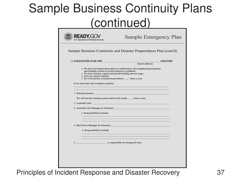 Free incident response plan template for disaster recovery ...
