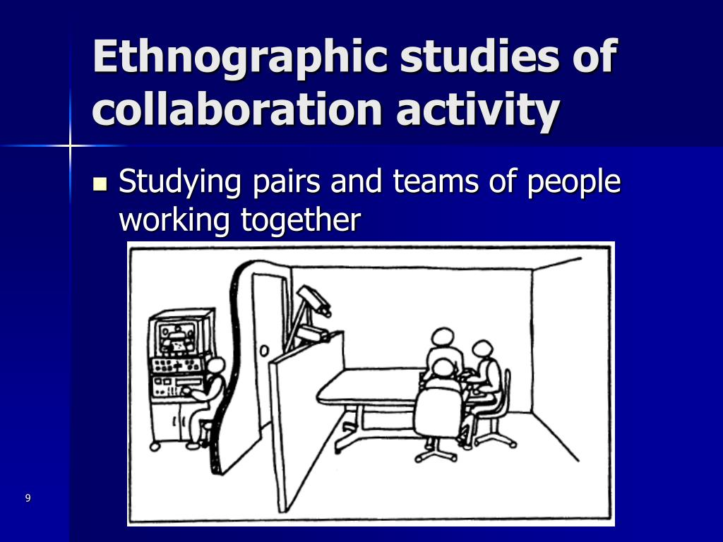 Ethnographic studies of collaboration activity