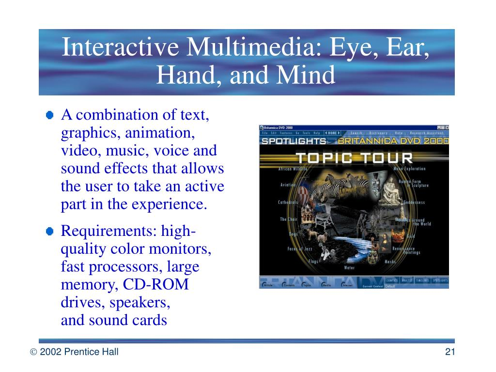 Interactive Multimedia: Eye, Ear, Hand, and Mind
