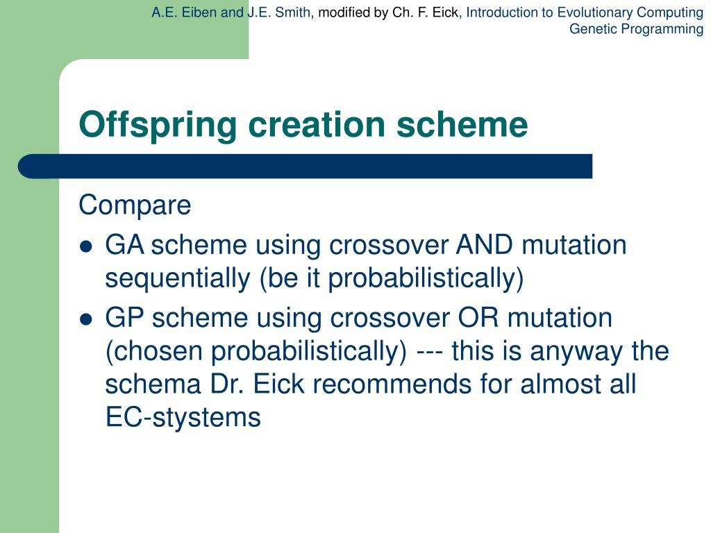 Offspring creation scheme