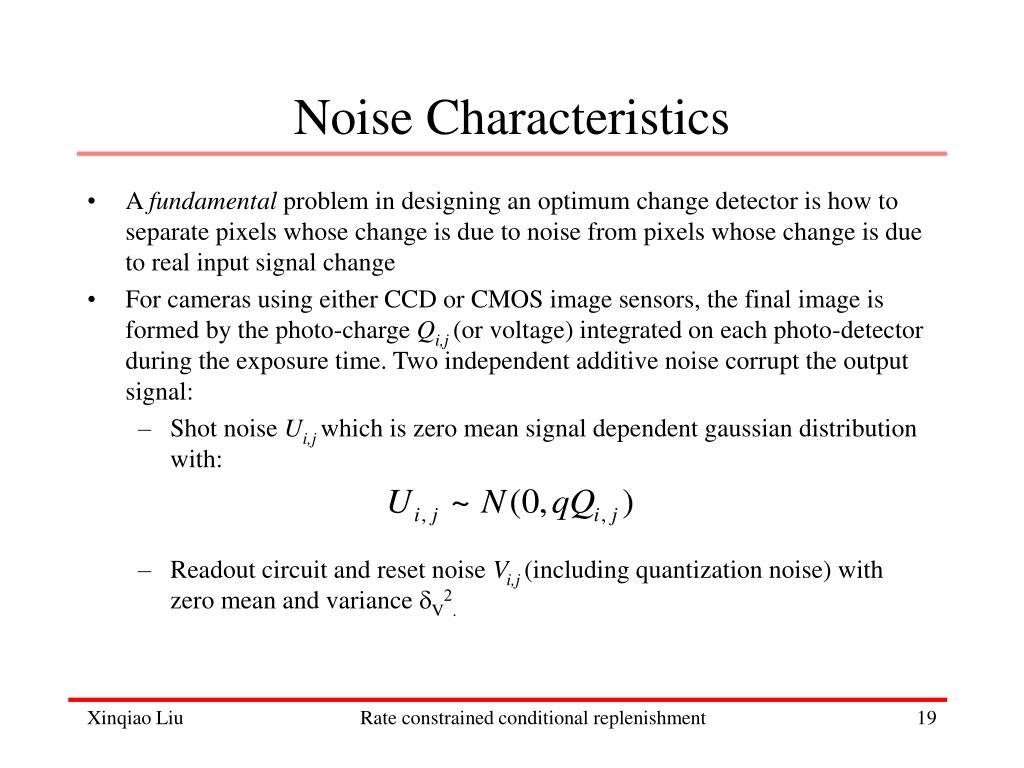 Noise Characteristics