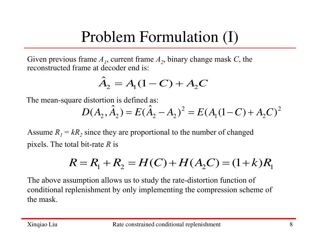 Problem Formulation (I)