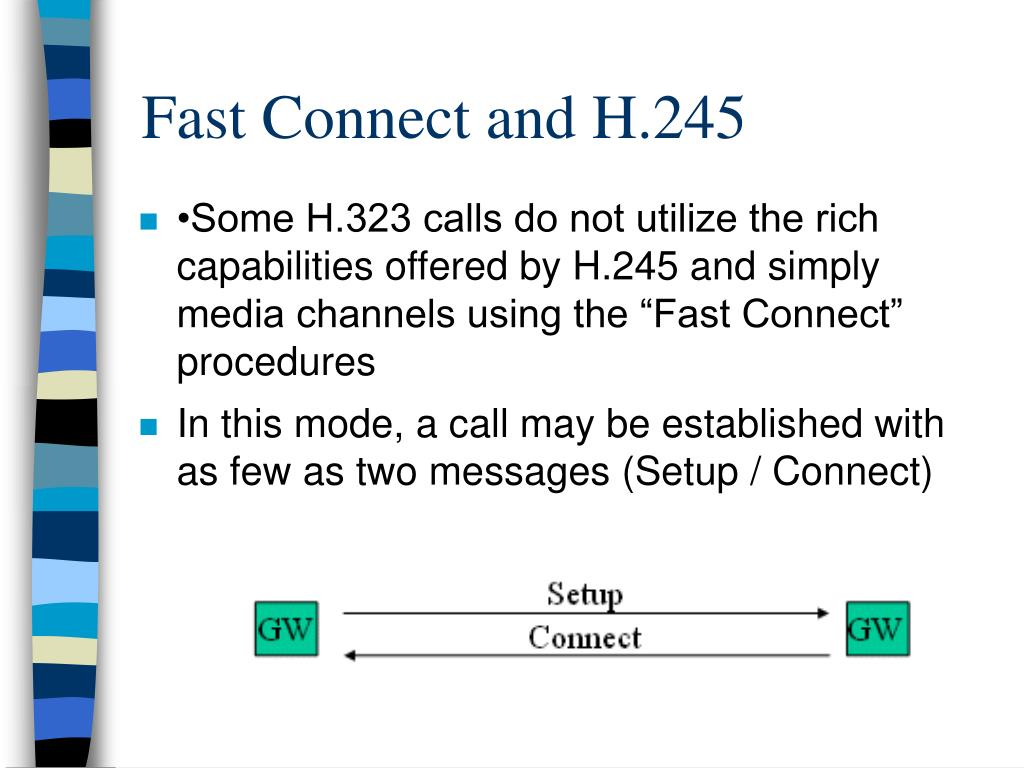 Fast Connect and H.245