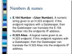 numbers names