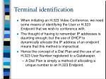terminal identification