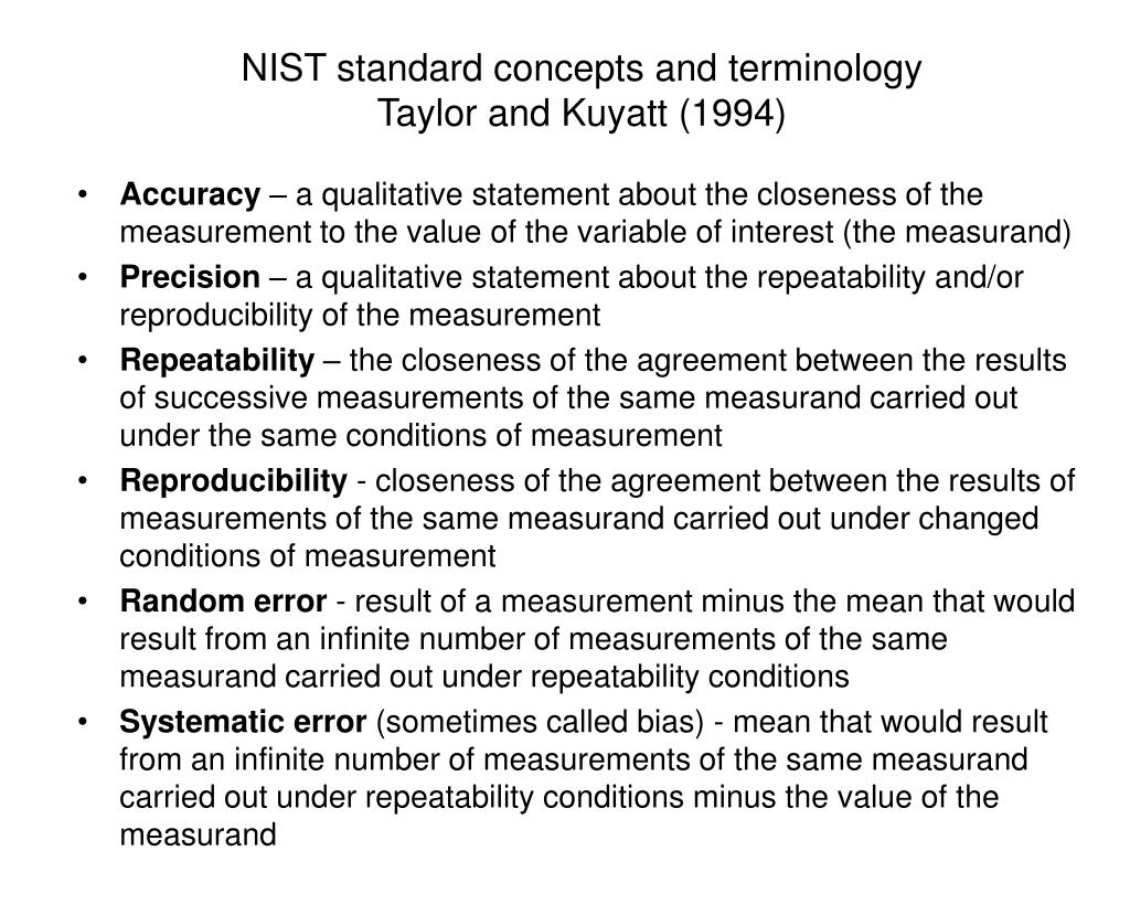 NIST standard concepts and terminology