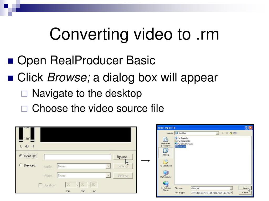 Converting video to .rm