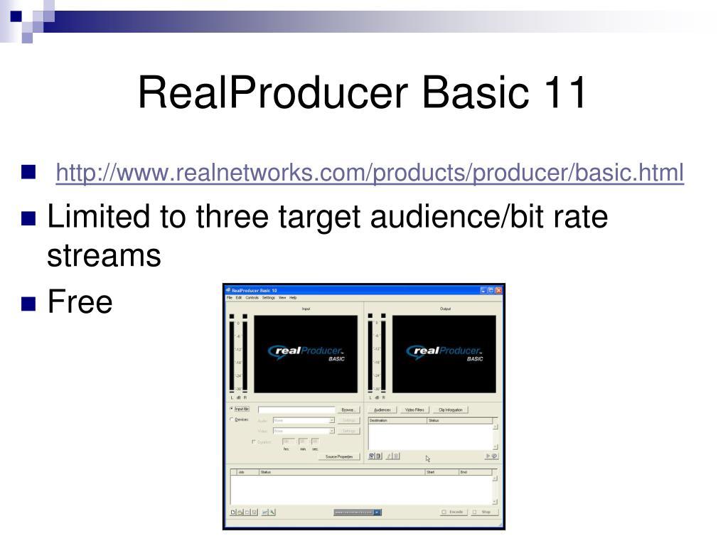 RealProducer Basic 11