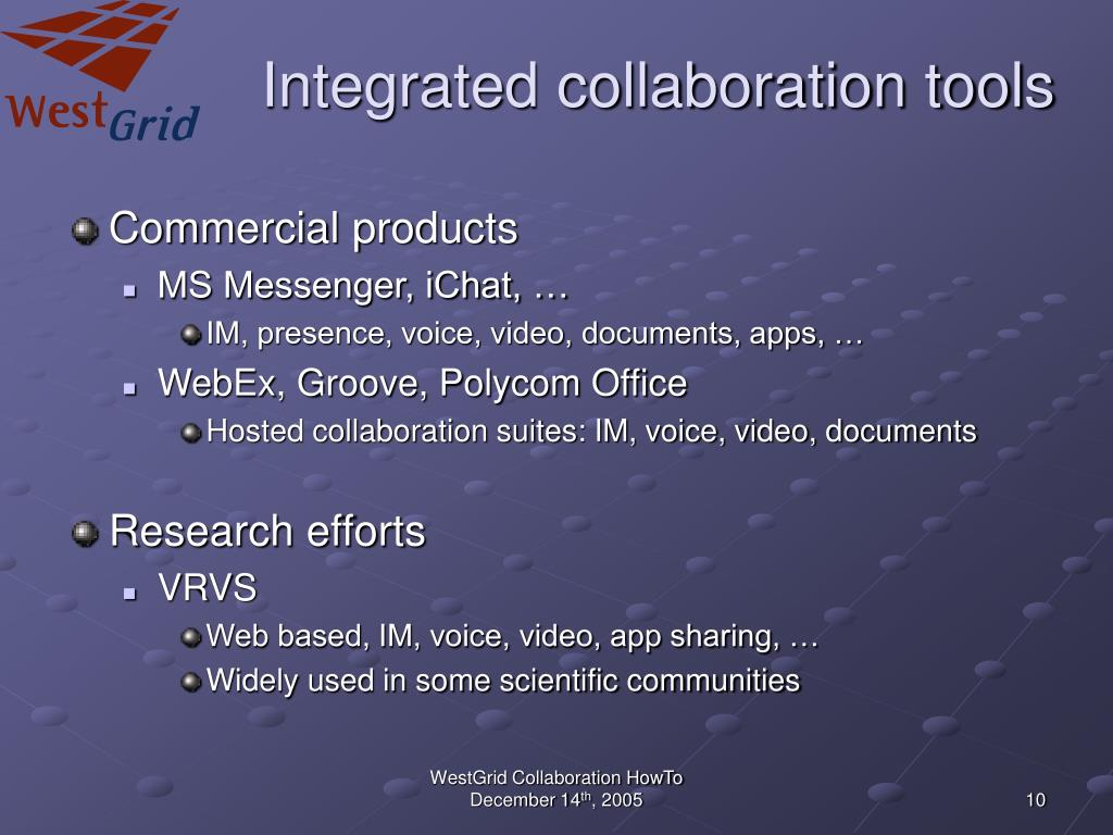 Integrated collaboration tools