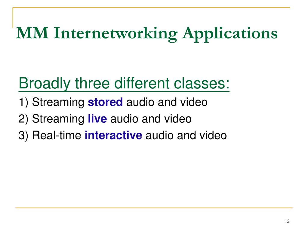 MM Internetworking Applications
