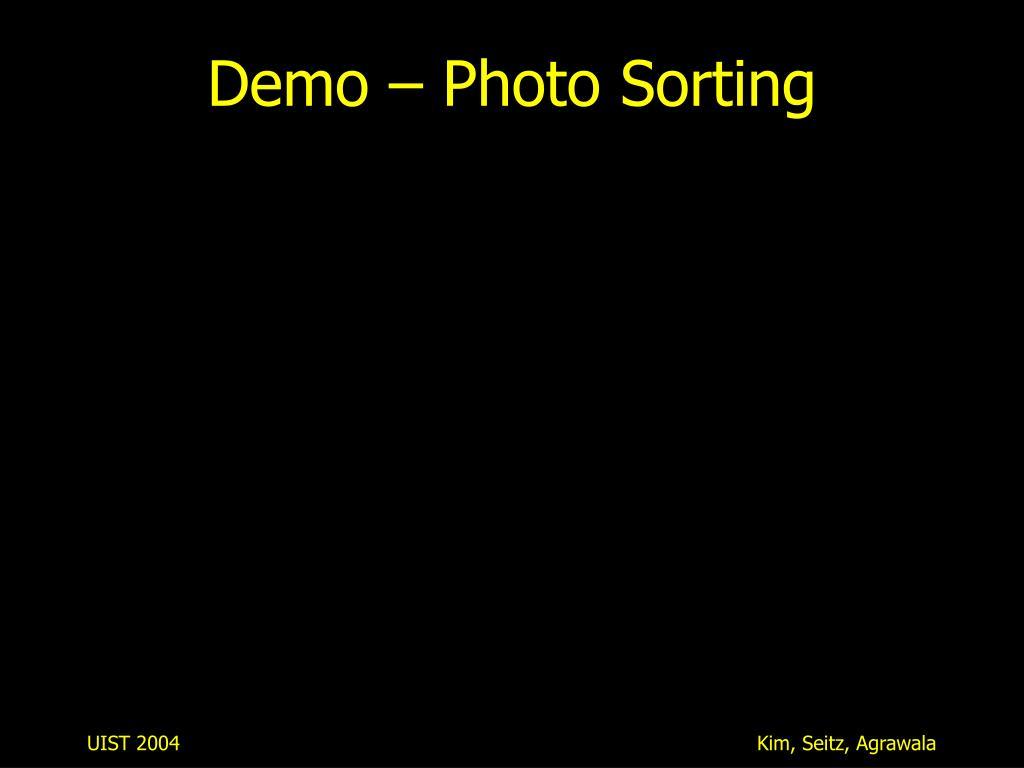 Demo – Photo Sorting