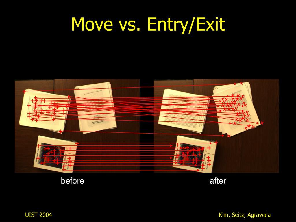 Move vs. Entry/Exit