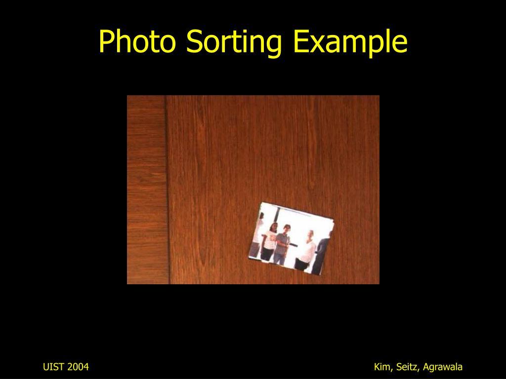 Photo Sorting Example